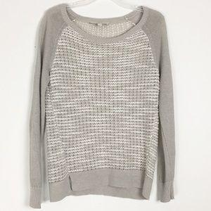 LOFT | tan light knit sweater M